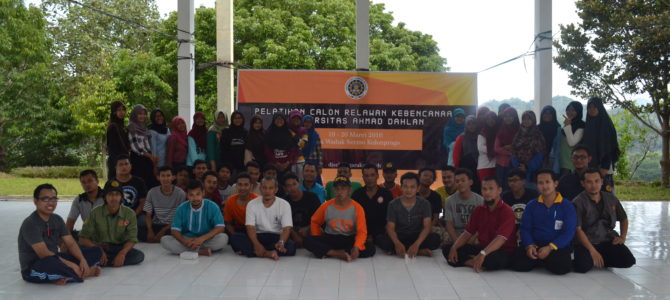Pelatihan Calon Relawan Kebencanaan UAD